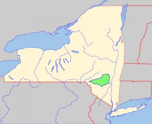 Catskill Mountains fishing map